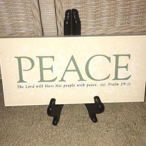 Wooden Plaque Bible Verse